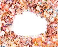 Color pencils shavings Stock Photography