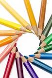 Color pencils spread around Royalty Free Stock Image