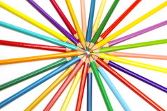 Color pencils spread around Royalty Free Stock Photography