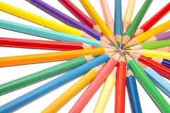 Color pencils spread around Royalty Free Stock Photos