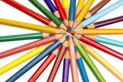 Color pencils spread around Stock Image