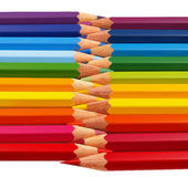 Color pencils stacked up Stock Image