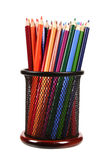 Color pencils in support Royalty Free Stock Photo