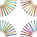 Color pencils on table Royalty Free Stock Images