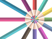 Color pencils, teamwork concept Stock Image
