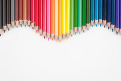 Color pencils for text and background Stock Image