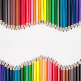Color pencils for text and background Stock Photo