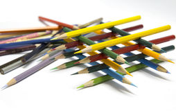 Color pencils. The variety of these bright and pastel Royalty Free Stock Photo