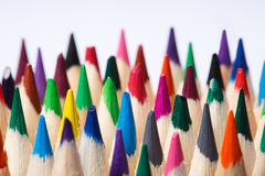 Color pencils of various color on a light background Stock Image
