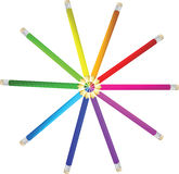Color pencils vector illustration Royalty Free Stock Photo