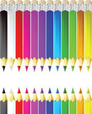 Color pencils vector illustration Royalty Free Stock Images