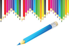 Color pencils vector illustration Stock Image