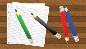 Color pencils vector illustration Stock Images