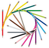 Color pencils - Vector image Stock Image