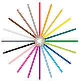 Color pencils - Vector image Stock Images