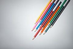 Color pencils on vignette background Stock Photo