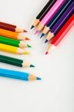 color pencils, vivid composition Royalty Free Stock Photo