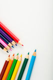 color pencils, vivid composition Royalty Free Stock Images