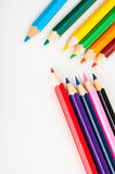 color pencils, vivid composition Royalty Free Stock Image