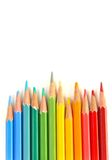Color pencils wave Stock Image