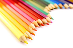 Color pencils wavy form Royalty Free Stock Photos