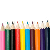 Color pencils on white. Background Stock Image