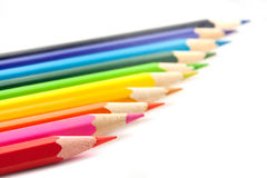 Color pencils  on a white Royalty Free Stock Images