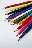 Color pencils on white background. Color pencils on a white background Stock Photo