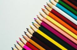 Color pencils on white background. Color pencils on a white background Royalty Free Stock Photography