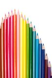Color pencils on the white background Royalty Free Stock Photography