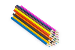 Color pencils  on white background Stock Photos