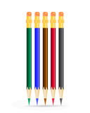 Color Pencils on white background. Stock Photo