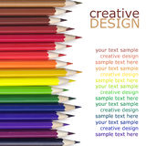 Color pencils. On white background Royalty Free Stock Photos