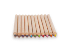 Color pencils  on white Royalty Free Stock Images