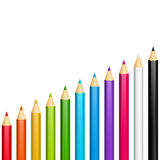 Color pencils. On white background stock illustration