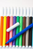 Color pencils on a white background Royalty Free Stock Photo