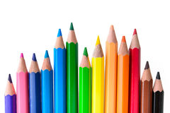 Color pencils. On a white background Royalty Free Stock Photos