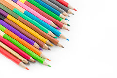 Color pencils on white background.  Stock Photography