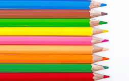 Color pencils. On white background Stock Images