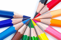 Color pencils. On white background Stock Photography
