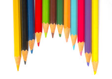 Color pencils. On white background Royalty Free Stock Images