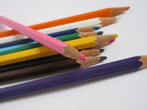 Color pencils. On a white background Royalty Free Stock Images