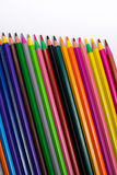 Color pencils on white background. Beautiful color pencils.Color pencils for drawing. Isolated.Back to school concept. Royalty Free Stock Photo