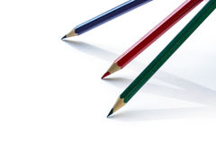 Color pencils on white background Royalty Free Stock Photography
