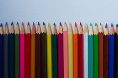 Color pencils on white background. Color pencils on a white background Stock Image