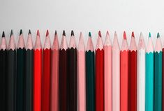 Color pencils on white background. Color pencils on a white background Stock Photos