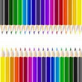 Color pencils on white background Stock Photography