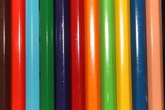 Color Pencil. S on white backround stock photography