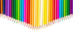Color pencils with white copy space below Royalty Free Stock Image