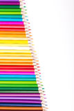 Color pencils with white copy space Royalty Free Stock Photography